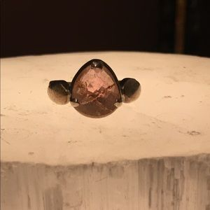 Faceted Pink Tourmaline ring size 6-7
